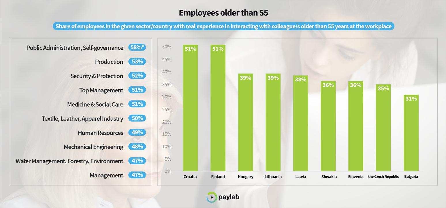 Paylab Diversity study 2019 55+ seniors older employees