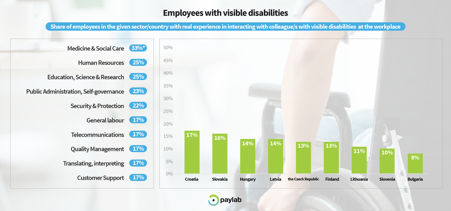 diversity study Paylab 2019 employees with disabilities colleague workplace integration