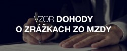 Vzor dohody o zrážkach zo mzdy - Kariéra v kocke - Profesia.sk