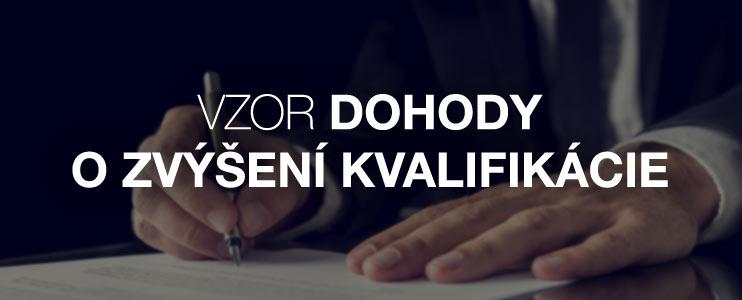Vzor dohody o zvýšení kvalifikácie - Kariéra v kocke - Profesia.sk