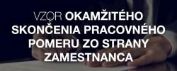 Vzor okamžitého skončenie pracovného pomeru zo strany zamestnanca - Kariéra v kocke - Profesia.sk
