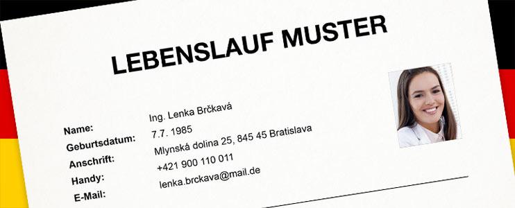 Vzor životopisu v nemeckom jazyku - Kariéra v kocke - Profesia.sk