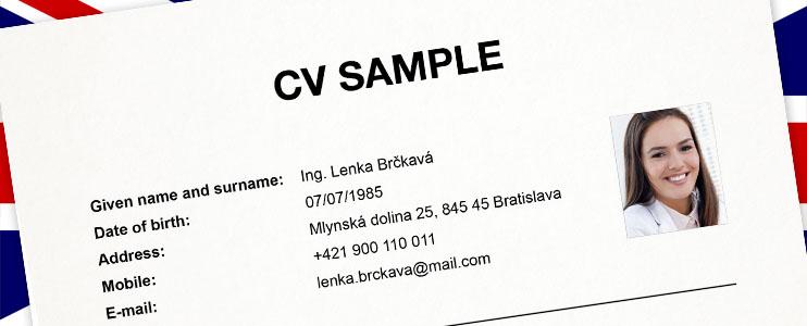 Vzor životopisu v anglickom jazyku - Kariéra v kocke - Profesia.sk