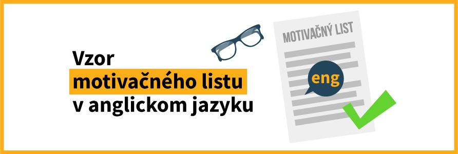 motivačný list v anglickom jazyku